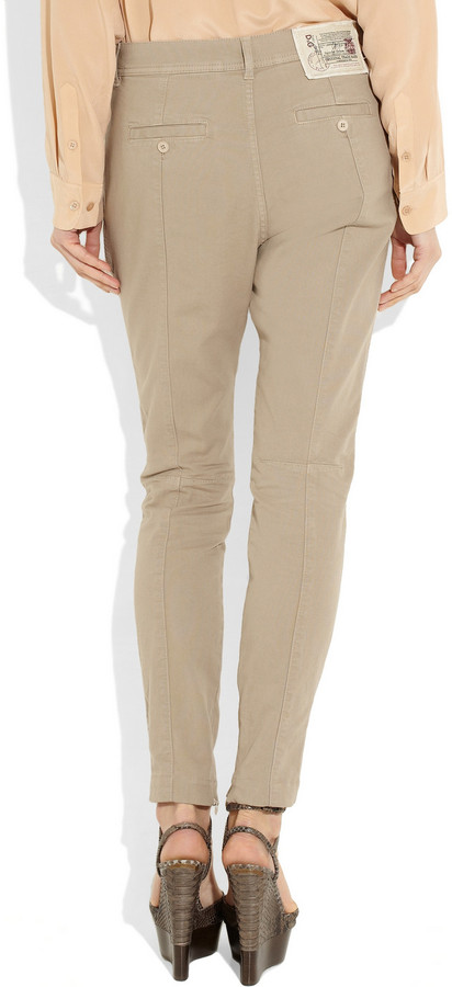 D&G Stretch-cotton twill tapered pants