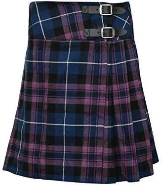 "SHYNE_ENTERPRISES Ladies Knee Length Kilt Skirt 20"" Length Tartan Pleated Kilts - Pride Of Scotland"