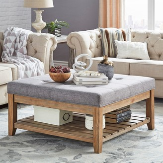 Homevance HomeVance Contemporary Tufted Upholstered Coffee Table