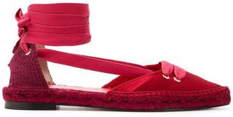 Castaner x Manolo Blahnik lace-up espadrille sandals
