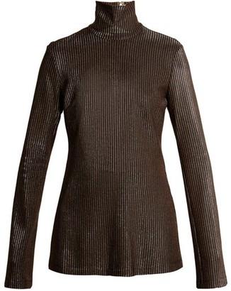 Ellery Gospel Striped Knit Sweater - Womens - Metallic