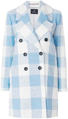Paul Smith double breasted check coat