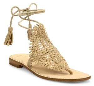 Joie Kacia Huarache Suede Lace-Up Sandals $298 thestylecure.com