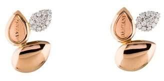 Damiani 18K Antera Diamond Earrings w/ Tags