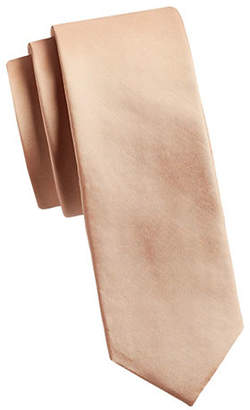 HAIGHT & ASHBURY Solid Slim Silk Tie