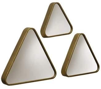 Union Rustic 3 Piece Matchett Triangular Framed Wall Mirror Set