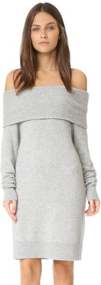 T by Alexander Wang Cashwool Off Shoulder Dress $395 thestylecure.com