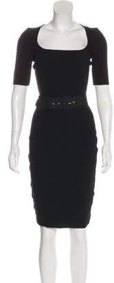 Lanvin Short Sleeve Bodycon Dress