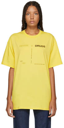 Raf Simons Yellow Drugs Regular Fit T-Shirt