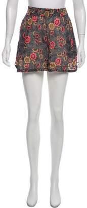 Etoile Isabel Marant Silk Printed Shorts