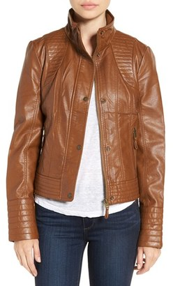 Women's Jessica Simpson Quilted Faux Leather Jacket $150 thestylecure.com