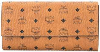 MCM monogram print wallet