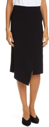 A.L.C. Flannery Rib Knit Faux Wrap Skirt