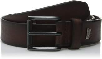 Levi's Men's 38mm Bevel Edge Belt with Logo Ornament