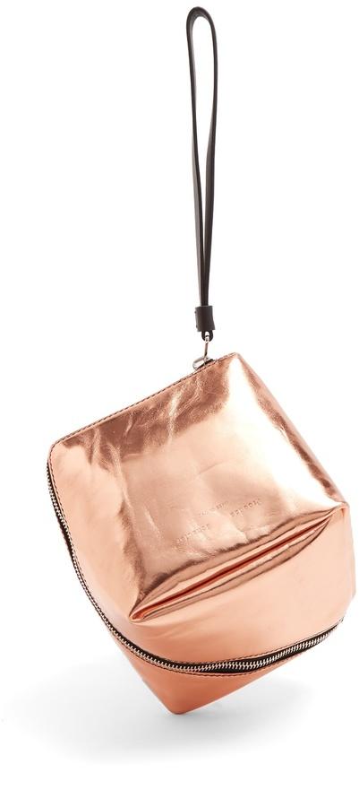 PROENZA SCHOULER Cube leather wristlet clutch