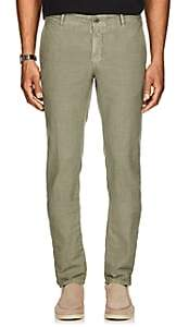 Incotex Men's Stretch-Cotton Slim Trousers - Olive