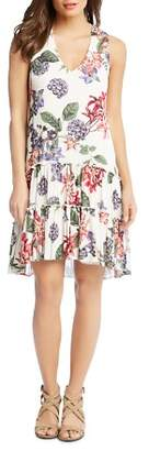 Karen Kane Sleeveless Ruffle-Hem Dress