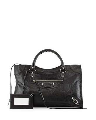Balenciaga Classic Nickel City Bag $1,950 thestylecure.com