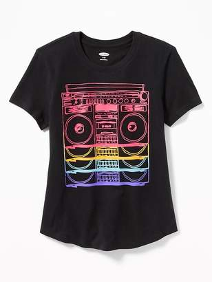 Old Navy Graphic Curved-Hem Tee for Girls