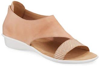 Sesto Meucci Elen Comfort Leather Sneaker Sandals, Blush