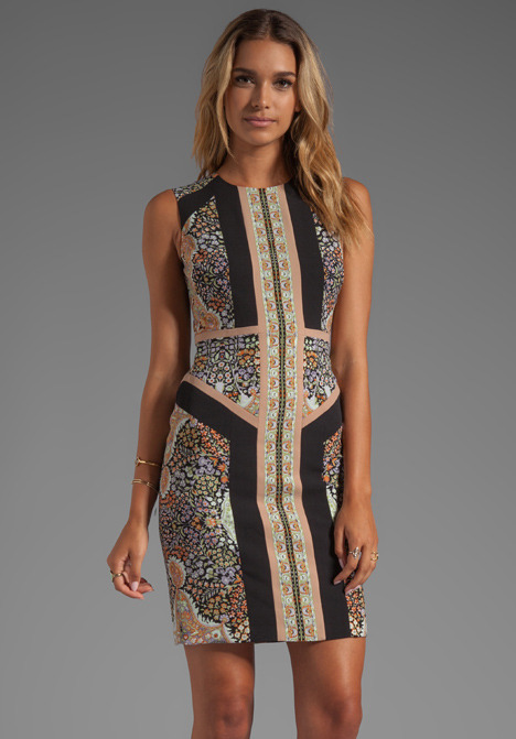 BCBGMAXAZRIA Lauren Sleeveless Printed Dress