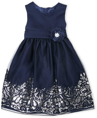 Couture Princess (Toddler Girls) Sequin Floral Tulle Dress