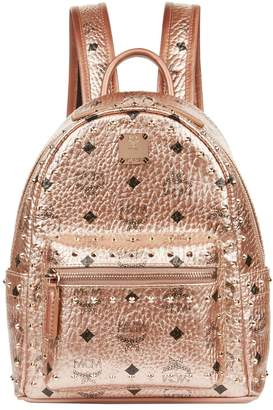 MCM Metallic Mini Stark Stud Backpack