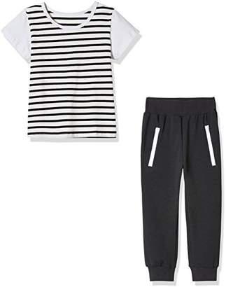 Sprout Star Boy's Stripe T-shirt and Jogger Pants 2Pcs Cotton Set--