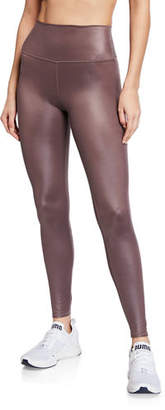 Alo Yoga High-Waist Shine Airbrush Active Leggings