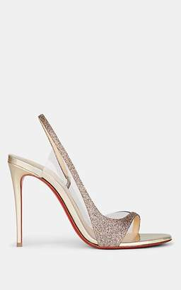 Christian Louboutin Women's Optisling Glitter & PVC Slingback Sandals - Gold
