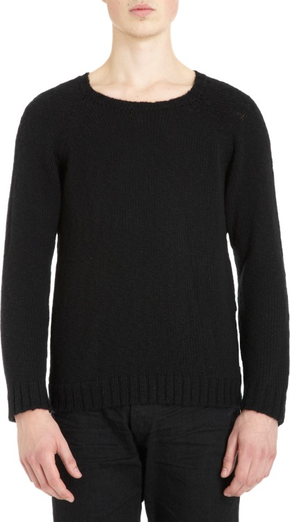 The Elder Statesman Side Pocket Raglan Sweater