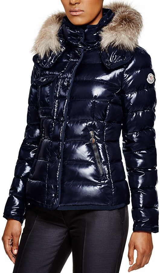 Moncler Moncler Armoise Fox Fur Hooded Down Jacket