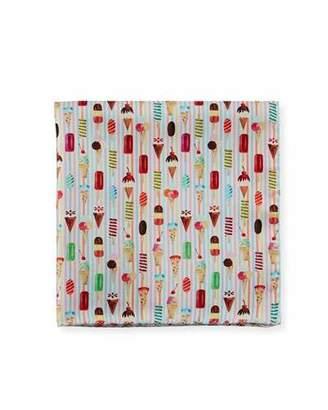 Eton Ice Cream-Print Silk Pocket Square
