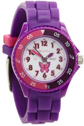 Tikkers - Kids' Purple Time Teacher Butterfly Watch Tk0041