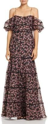 Keepsake One Love Floral Print Gown