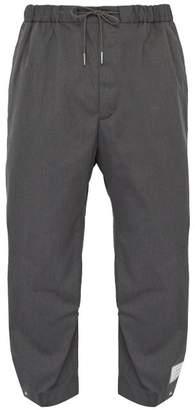 Thom Browne Drawstring Waist Adjustable Cuff Trousers - Mens - Grey