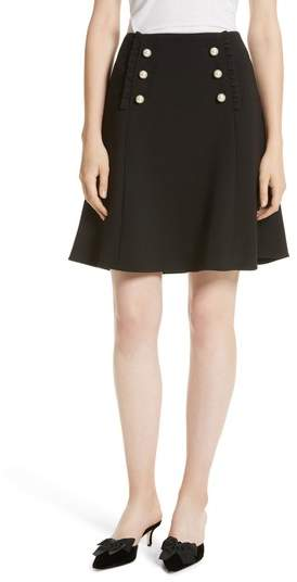 Women's Kate Spade New York Pearly Button Crepe Skirt