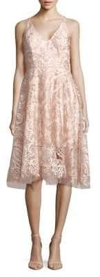 Xscape Evenings Lace Overlay A-Line Dress