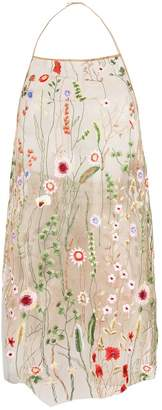 Marques Almeida Marques'almeida sheer floral embroidered top