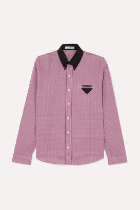 Prada Gingham Cotton-poplin Shirt - Red