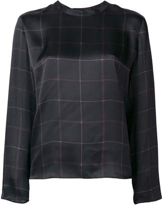 Vince longsleeved checked blouse