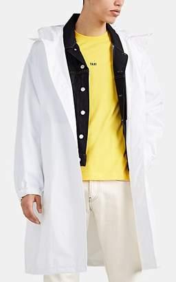 Helmut Lang Men's Logo Tech-Taffeta Raincoat - White