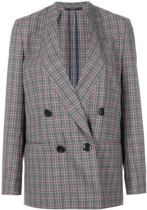 Paul Smith check double-breasted blazer