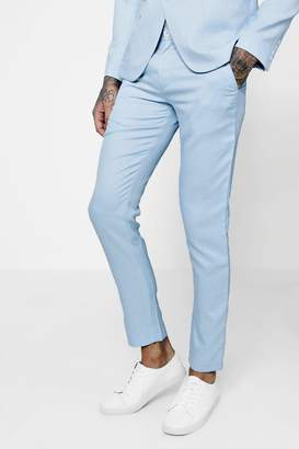 boohoo Tapered Slim Fit Tailored Suit Trousers