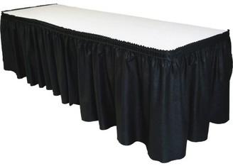 """Table Mate Tablemate Table Set Linen-Like Table Skirting, 29"""" x 14ft, Black"""