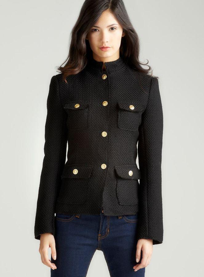 Max Studio Boucle Military Jacket