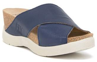 Fly London Wary 897 Leather Wedge Sandal