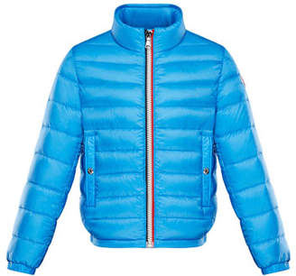 Moncler Quilted Stand-Collar Jacket, Size 8-14