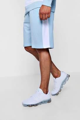 boohoo Colour Block Jersey Mid Length Shorts