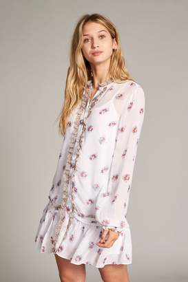Jack Wills orchard floral dropped waist shirt dress